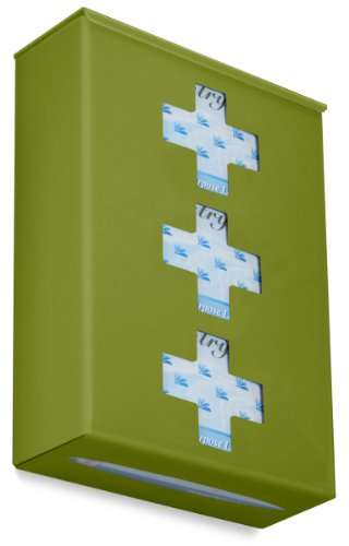 TrippNT 52408 Ultimate Medical Cross Triple Ivy Leaf Green Dual Dispensing Glove Holder , 10