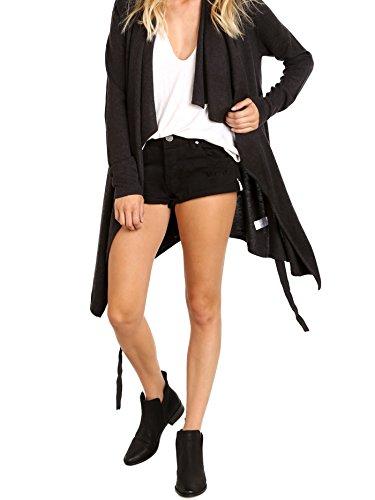Bella Luxx Cashmere Blend Drape Cardigan Black