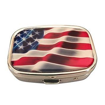 Amazon.com: Bandera americana Plata Dos Compartimento ...