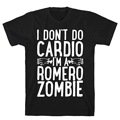 LookHUMAN I Don't Do Cardio, I'm a Romero Zombie 2X Black Men's Cotton -