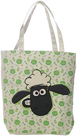St@llion Shaun The Sheep - Bolsa de la compra de algodón con cremallera, resistente y ligera: Amazon.es: Hogar