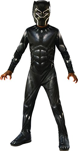 Rubie's Black Panther Child's Costume, Black/Grey, (Marvel Halloween Costume)