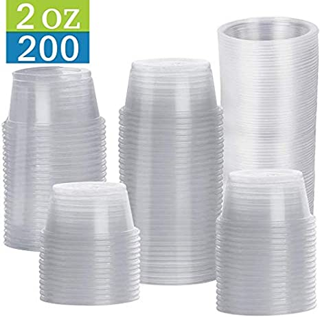 2 oz TashiBox Disposable Mini Cups No Lids Portion Cups 200 Count