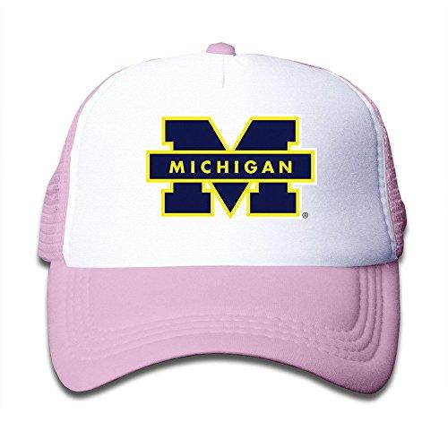 [Cool Michigan Wolverines Kids Baseball Mesh Caps Hat Boys Girls Adjustable Cotton Pink By JE9WZ] (Monsters University Hat)