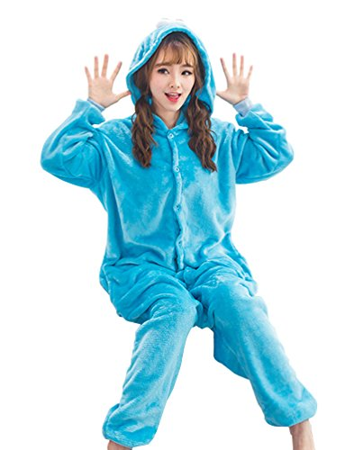 Adstry Cosplay Kigurumi Pajamas Sleepwear Costume Homewear 2-35 Blue M (Buzz Lightyear Fancy Dress Adult)