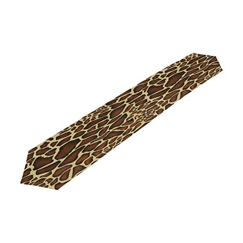 Giraffe Table (ALAZA Table Runner Home Decor,Hipster Animal Giraffe Skin Print Pattern Polyester Table Runner Placemat for Wedding Party Coffee Table Mat Decoration 13 x 90 inches)