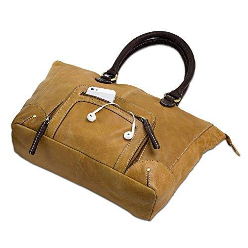 STILORD Grand Sac à main en cuir / Vintage Design / Sac en cuir pour femmes / Sac en cuir véritable / cuir veritable marron