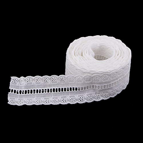 5Yards Lace Trims Elastic Band Woven Clothes Ribbon Belt Cotton DIY Sewing | Size - 5cm