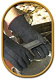 SHOWA Best Glove 8814-07 Size 7 14'' Black Char-Guard Non-Woven Lined Heat Resistant Gloves Gauntlet Slip-On Cuff (1/PR)
