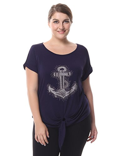 chicwe-womens-rhinestone-motif-knotted-hem-plus-size-top-t-shirt-xl-anchor