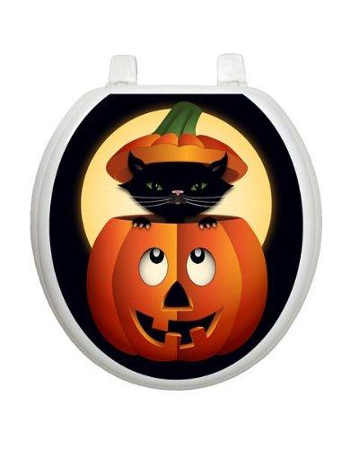 Peek-a-boo Kitty Toilet Tattoo TT-H702-R Round Halloween Seaonsal by Toilet Tattoo