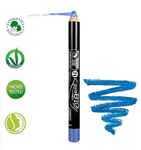 Cornflower Blue Natural - PUROBIO - Pencil Eyeshadow n.12 - Cornflower blue - Precise Stroke, Soft Texture, Long Lasting - with Vitamins