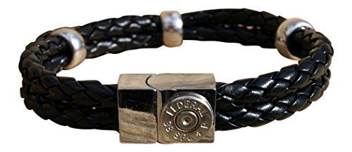 leather bullet bracelet - 4