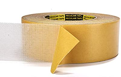 Double-Sided Carpet Tape – 2 Inches by 30 Yards – Adhesive Keeps Rugs in Place on Carpet, Hardwood, Tile, Linoleum – Easily Removable with No Residue