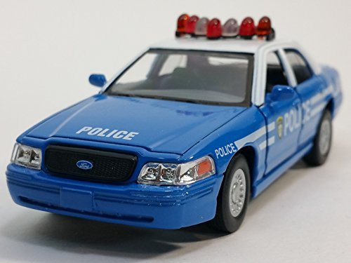 Kinsmart Ford Crown Victoria Police Dept Squad Car 1/43 O Scale Diecast Interceptor by Kinsmart