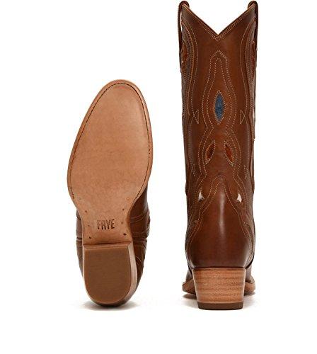 Frye Kvinners Emory Flare Midten Cowgirl Boot Rund Tå - 79119-com Cognac Multi