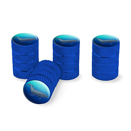 Graphics and More Humpback Whale Tire Rim Wheel Aluminum Valve Stem Caps - Blue - Whale Stem