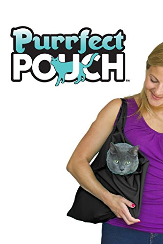 PurrFect Pouch The Original AS SEEN ON TV. The Comfy Cat Carrier & Grooming Sack in One (Set of 2 - Black)