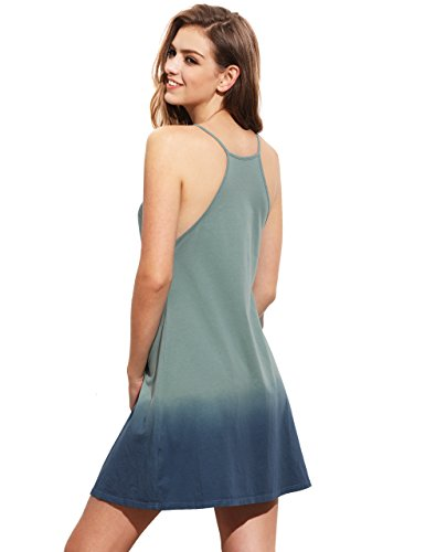 c629a5e46 Romwe Women's Tunic Swing T-Shirt Dress Short Sleeve Tie Dye Ombre Dress -  Buy Online in Oman. | Apparel Products in Oman - See Prices, Reviews and  Free ...