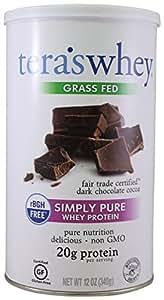 tera's: Simply Pure Grass-Fed rBGH-Free Whey Protein, Dark Chocolate, 12 oz