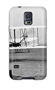 Rugged Skin Case Cover For Galaxy S5- Eco-friendly Packaging(aircraft82)
