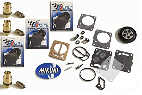 GENUINE MIKUNI Yamaha GP 1200R GPR 1200 PV Triple Carb Rebuild Kit & Needle Seat