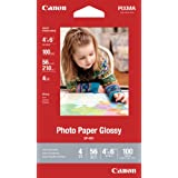 Genuine Canon GP-601, 4 x 6-Inch, Photo Paper Glossy, 100 Sheets/Package