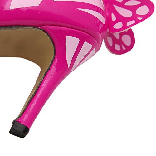 tacón Zapatos Stiletto Multicolor HooH Mariposa Toe de Mujer Plateado Peep Sandalias SOWZAz0
