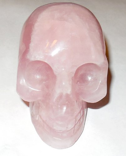 Rose Quartz Skull 19 Sacred Akashic Ancient Past Life Love Heart Healing Energy 2.9'' by SunnyCrystals (Image #3)