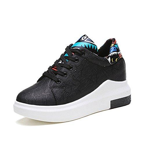 Scarpe Da Corsa Da Donna, Scarpe Sportive Da Corsa Più Alte, Impermeabili Casual, Sneaker Nere