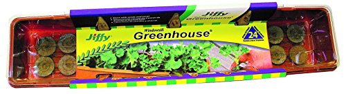 Jiffy 36mm Windowsill Greenhouse 24-Plant Starter Kit by Jiffy