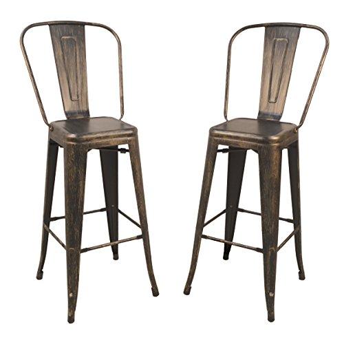 Carolina Chair & Table 1TH-1001-30F ACOP Monaco 30-Inch Bar Set of 2 Stool, Antique Copper