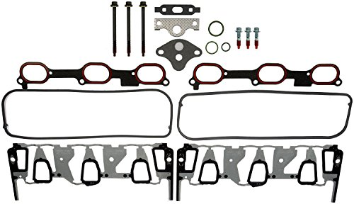 (APDTY 726316 Intake Manifold Gasket Kit (Upgraded Metal Design) Includes Upper & Lower Intake Gaskets, EGR Valve Gasket, Valve Cover Gasket, O-Rings,& Bolts for GM 3.1L/3.4L Engine (Replaces 19169127))