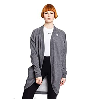 Nike Women's Sportswear Club Ft Jackets, White , L (NKAR3846-071)