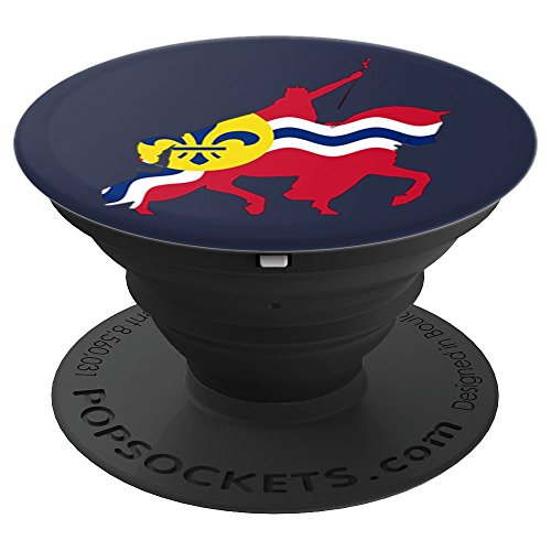St. Louis City Flag Statue - PopSockets Grip and Stand for Phones and Tablets