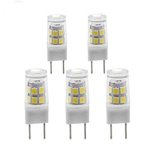 G8 Bi-pin LED Bulb 120V Daylight 6000K 50W Equivalent T4 G8 Base Halogen LED Replacement Bulb for Under-cabinet Accent Puck Light Desk Lamp Lighting (pack-5)