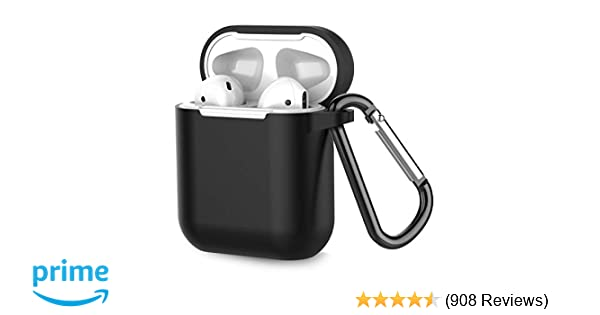 64a3317eda1 Coffea Airpods Case, AirPods Accessories Shockproof Case Cover Portable &  Protective Silicone Skin Cover Case for Apple Airpods 2 &1 (Front LED Not  Visible) ...