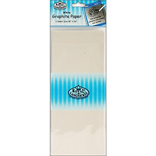 Royal Brush White Transfer Paper, 18 by 36-Inch
