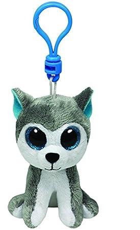 Ty Beanie Boos - Husky de peluche Slush con anilla - Peluche Llavero Beanie Perro Husky