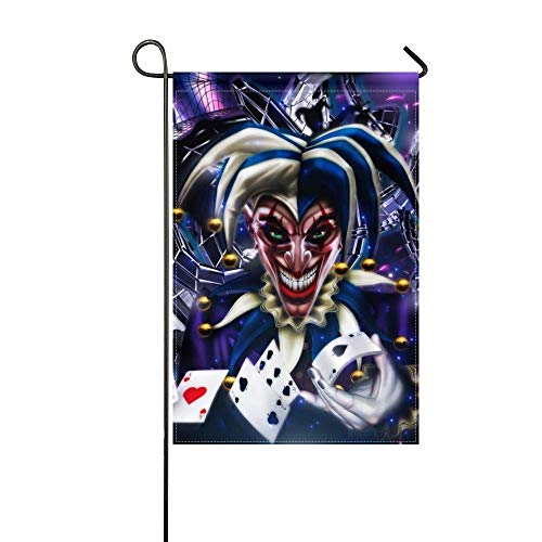 - MJG Garden Flag Jester Cards Smile Abstraction 12x18 Inches(Without Flagpole)