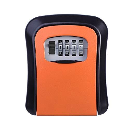 orange Wall Mount Key Storage Box Organizer Security Keyed Door Lock with 4 Digit Combination Password Zinc Alloy Safe Box AA(color  Green)