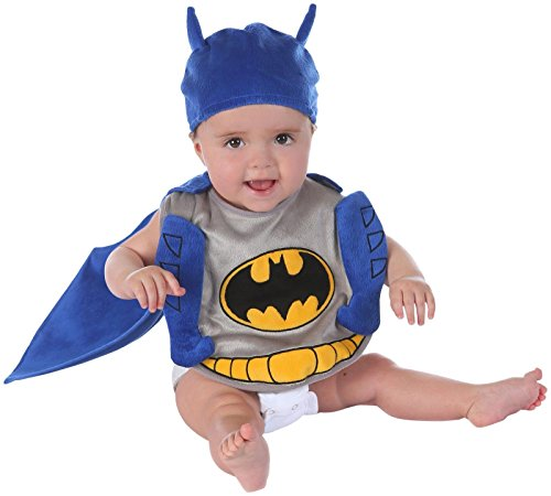 Princess Paradise Batman Bib Set Costume, Purple/Grey, One Size