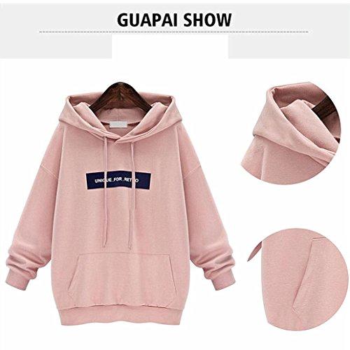 Stampato Pile Rosa Camicetta Top Pullover Natale kword Manica Fulvo Felpa Maglione Ritaglio Alce Lunga Di Suede ttYq4