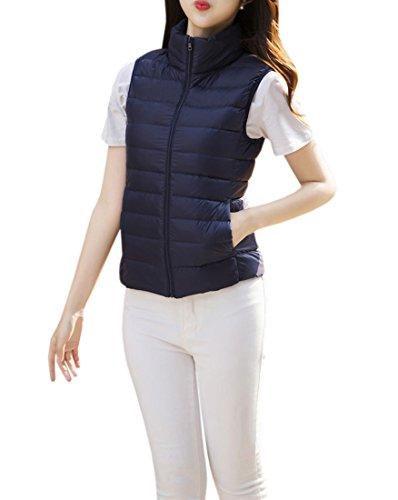 資格情報意図清めるYueLian 春秋 レディース 無事 中綿ベスト 防風 ジャケット 袖なし 暖かい 防寒 シンプル アウター