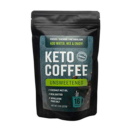 Keto Coffee with Real Butter, MCT Oil, and Himalayan Pink Salt (Unsweetened)
