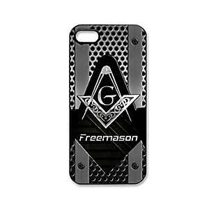 GONGXI-Freemason Patrón de plástico duro caso para iPhone 5/5S