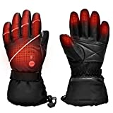 Upgraded Heated Gloves for Men and Women with Electronic Rechargable Battery,Outdoor Sports Ski Motorcycle Snow Mittens Hand Warmer,Heat Up to 2.5-6H