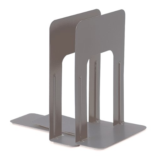 (Officemate Bookends, 9 Inches, Non-Skid Base, 1 Pair, 5.875 x 8.25 x 9 Inches, Gray (93052))