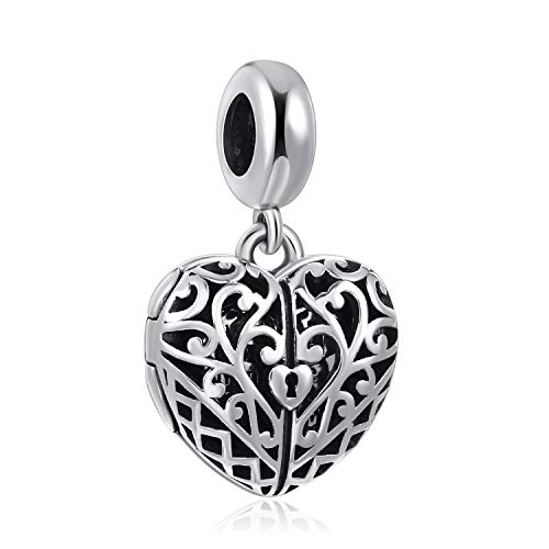 ANGEMIEL Sterling Silver God in Your Heart Dangle Charm Openable Charms Pendant Amulet Lucky Bead from ANGEMIEL