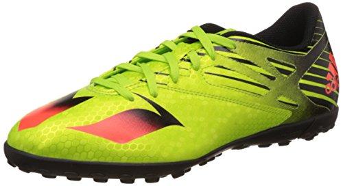 adidas Messi 15.4 Tf, Botas de Fútbol para Hombre Verde / Rojo / Negro (Seliso / Rojsol / Negbas)